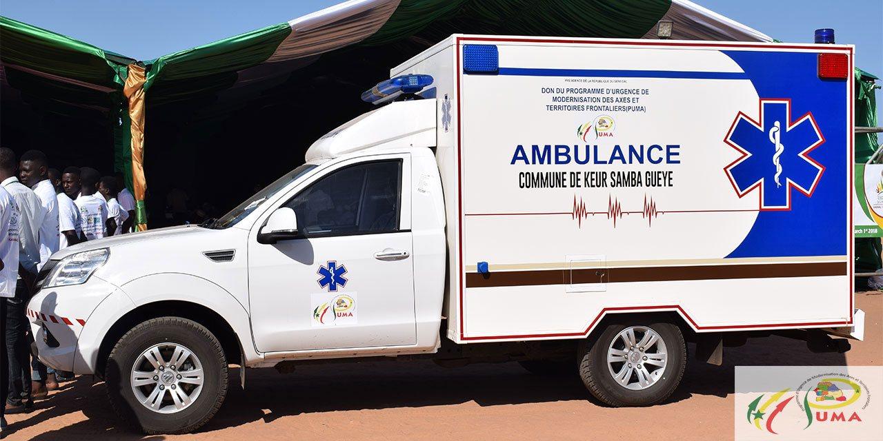 Fatick : Réception d'ambulance  médicalisée