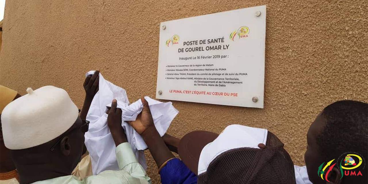 Inauguration poste de santé Gourel Omar Ly, Matam