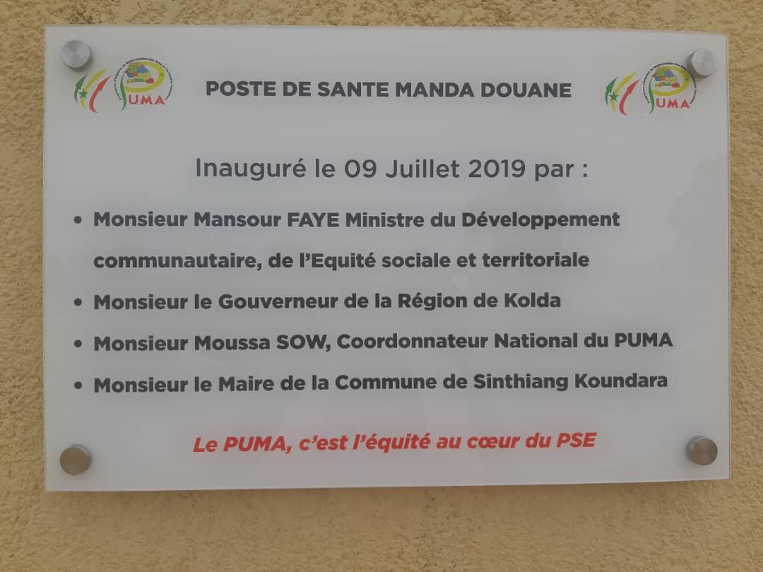 Inauguration du poste de santé de Manda Douane dans la région de Kolda