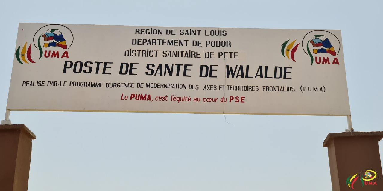 Inauguration  poste de Santé moderne de Walalde (Podor)