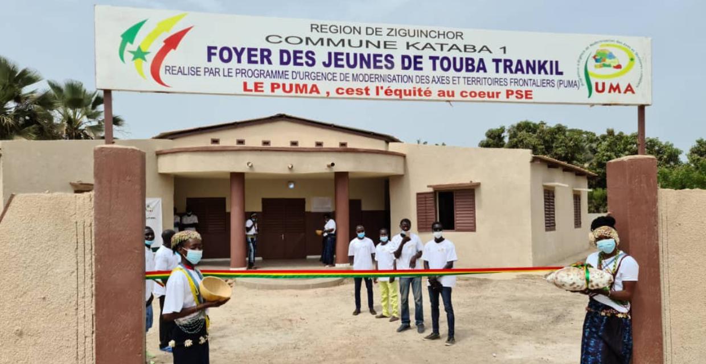 Inauguration du foyer des jeunes de Touba trankil  ( KATABA1 ) . (Bignona)