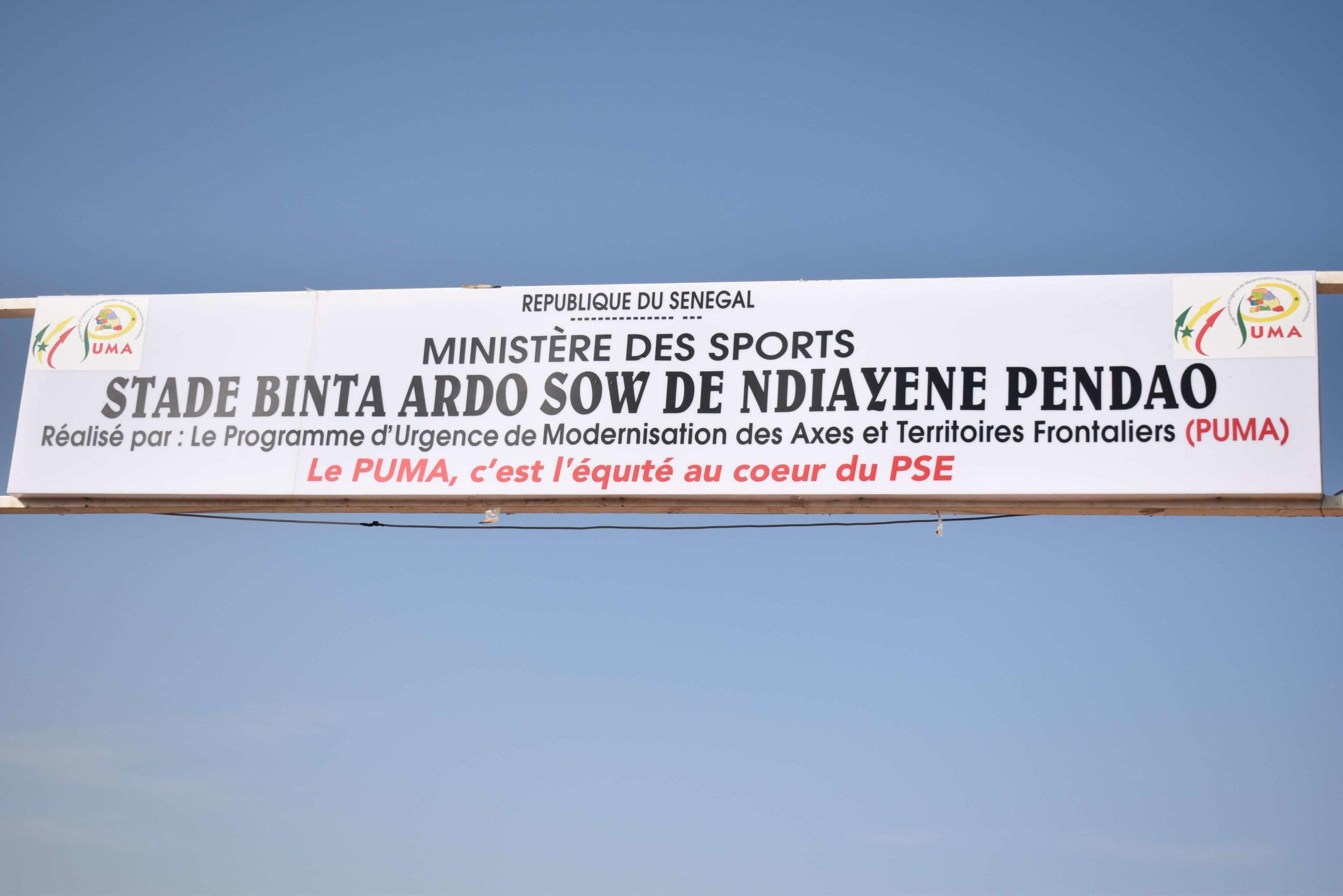 Inauguration par le PUMA du terrain multifonctionnel de « Binta Ardo Sow » de NDIAYENE PENDAO à PODOR